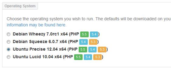 vagrant-puphpet-select-operating-system-ubuntu precise 12.04 ubuntu lucid 10.04 debian squeeze 6.0 debian wheezy 7.0 7.1