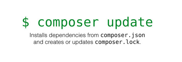 composer install vs. composer update